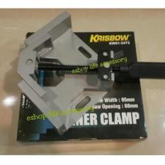 krisbow klem/ corner clamp sudut 90 derajat/pegangan siku kayu besi