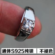Kt 18K Emas Putih Produk Asli Menikah Suasana Cincin Berlian Miniatur Bor
