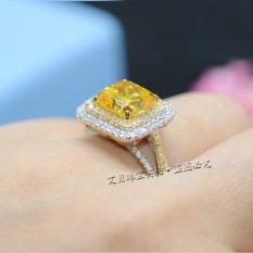 Kt Cincin Kuning Berlian Cincin Kawin Putri Perempuan