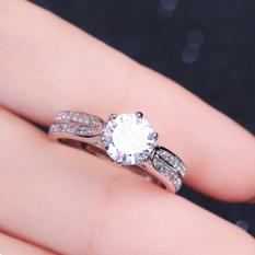 Harga Kt Cincin S925 Sterling Silver Cincin Berlian Miniatur Zirkon Menikah Seken