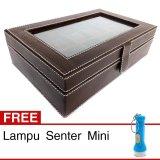 Jual Kualitas Super Kotak Box Jam Tangan Isi 10 Coklat Gratis Senter Mini Original