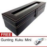 Promo Kualitas Super Kotak Jam Tangan Isi 6 Box Jam Tangan Hitam Abu Gratis Gunting Kuku Di Yogyakarta