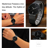 Beli Terbaik Kualitas Ttlife Merek Mewah Pria Fashion Dan Kasual Ultra Tipis Stainless Steel Mesh Band Tanggal Waterproof Quartz Wrist Watch Hitam Oem