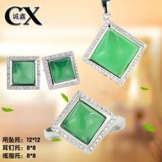 Kualitas Tinggi S925 Sterling Perak Elektroplating Emas Putih Garpu Penyangga Mata Cincin Anting
