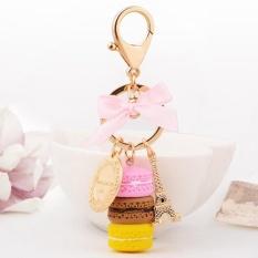 Kuhong Keychain Bag Charms France LADUREE Macarons Effiel Tower Lover Mothers Christmas X mas Gifts