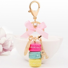 Kuhong Keychain Bag Charms France LADUREE Macarons Effiel Tower Lover Mothers Christmas X mas Gifts