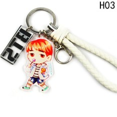 Kuhong KPOP STAR BTS Karakter Gantungan Kunci Bangtan Gantungan Kunci Anak Laki-laki H03-