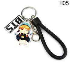 Kuhong KPOP STAR BTS Karakter Gantungan Kunci Bangtan Gantungan Kunci Anak Laki-laki H05-