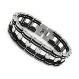 Toko Kuhong Men S Vintage Black Titanium Steel Greek Bracelet Link Fashion Chain Bangle New Intl Lengkap
