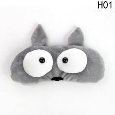 Kuhong Plush Hewan Sleeping Eye Mask Soft Padded Travel Eye Eyepatch Blindfold Shield H01 Intl Kuhong Diskon 40