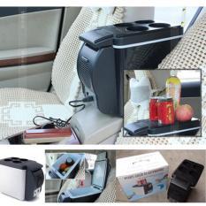 KULKAS 6L Lemari Es Pendingin Portable Mobil Cars Aksesoris Interior - Hitam