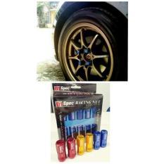 Kunci Baut Roda Racing / Racing Nut Warna Hitam / Baut Racing Ban Mobil Hitam By Vg Auto.