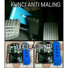 kunci kopling anti maling + gembok Alarm. Kunci kopling kunci rem. Universal bisa pasang untuk semua mobil. Matic dan Manual.