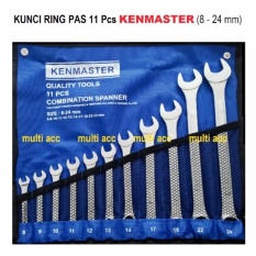 Kenmaster Kunci Ring Pas 11 Pcs 8mm - 24mm By Multi Acc Id.