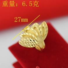 Kuning Emas Tembaga Berlapisan Emas Bisa Digerakkan Bentuk Kipas Cincin Cincin