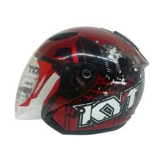 Kyt Dj Maru 10 Helm Half Face Marron Black Original