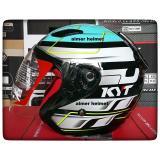 Beli Kyt Dj Maru 13 Green Flou Black Helm Half Face Kredit Indonesia