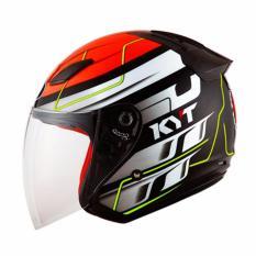 Jual Kyt Dj Maru 13 Helm Half Face Red Fluo Yellow Branded Original
