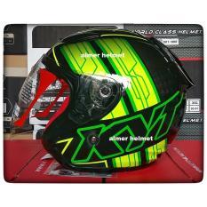 Review Kyt Dj Maru 14 Helm Half Face Black Yellow Fluo Green Fluo Terbaru