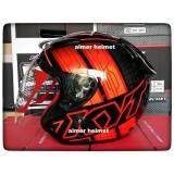 Harga Kyt Dj Maru 14 Helm Half Face Black Orange Fluo Red Fluo Branded