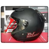 Model Kyt Dj Maru Black Doff Helm Half Face Terbaru