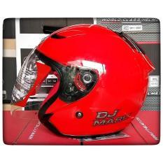 Jual Kyt Dj Maru Helm Half Face Red Metalik Branded