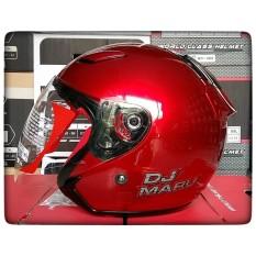 Beli Kyt Dj Maru Solid Helm Half Face Red Maroon