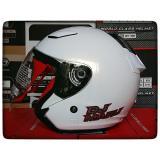 Toko Kyt Dj Maru Solid White Helm Half Face Termurah