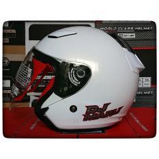 Spesifikasi Kyt Dj Maru Solid White Helm Half Face Online