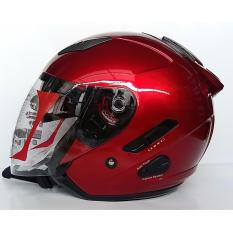 KYT Galaxy Slide Helm Half Face - Marron Metalik