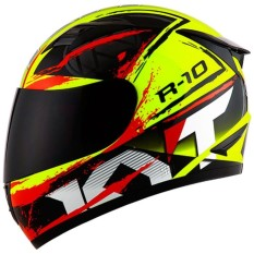 KYT R10 - Yellow Fluo / Black / Red