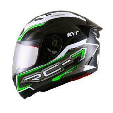 Kyt Rc Seven 14 Helm Full Face White Green Asli