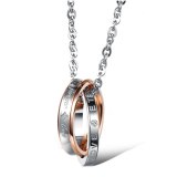 Harga La Vie Some Kalung Liontin Stainless Steel With Bor Kristal Mawar Emas New