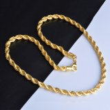 Daftar Harga La Vie Gold Plating Gold Rope Chain Necklace Twisted Necklace Gold Oem