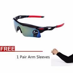 La Vie Pria's Berjemur Kacamata UV400 Kacamata For Olahraga Outdoor Sepeda Sepeda Kacamata + 1 Pasang Lengan Lengan