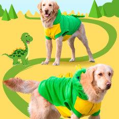 Anjing Pakaian Aneh tapi Lucu Emas Anjing Besar Hewan Peliharaan