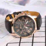 Review Tentang Lady Analog Quartz Pu Leather Band Round Numeral Watch Black Intl