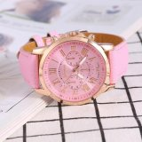 Harga Lady Analog Quartz Pu Kulit Band Bulat Angka Watch Pink Intl Satu Set
