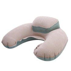 Lalang Udara Bantal Inflatable U Bentuk Leher Bantal Folding Travel OUTDOOR Bantal (grey)