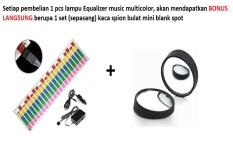 Lampu LED Equalizer 90 x 25 cm Multi Color untuk penggemar sound system mobil cocok untuk semua MERK dan TYPE mobil Toyota Honda Mazda Mitsubishi Suzuki Daihatsu Mercy BMW Lexus Xpander Hyundai dll
