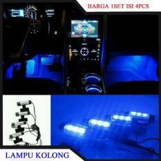Jual Lampu Kabin Bawah Mobil Lampu Variasi Kolong Mobil Car Foot Lamp 1 Set Isi 4Pcs Grosir