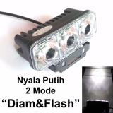 Harga Lampu Kabut 3 Mata 2 Mode Sorot Diam Dan Kedip Tipe E03 Flash Bisa Juga Untuk Lampu Foglamp Mobil Putih Baru