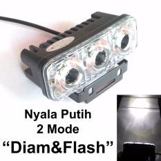 Diskon Lampu Kabut 3 Mata 2 Mode Sorot Diam Dan Kedip Tipe E03 Flash Bisa Juga Untuk Lampu Foglamp Mobil Putih Akhir Tahun