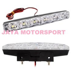 Lampu LED Daytime Running Light / DRL Mobil / Motor Plasma / 6 LED 12W 930LM (2 Pcs / Set)