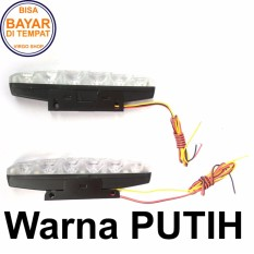 Lampu LED DRL 6 Mata High Power Isi 2 Pcs Bisa Untuk Motor Dan Mobil Untuk Lampu Malam Atau Lampu Senja - Putih