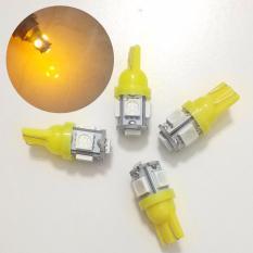 4 Biji Lampu Led Motor Mobil JAGUNG T10 Grade Premium Senja Sein Mundur Plat Nomor 5050 5 Titik Arsystore ARSY - Kuning