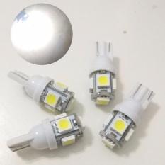 4 Biji Lampu Led Motor Mobil JAGUNG T10 Grade Premium Senja Sein Mundur Plat Nomor 5050 5 Titik Arsystore ARSY - Putih