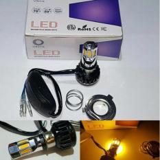 Lampu Led Motor ACDC 6Sisi Kuning H6 Hs1 H4