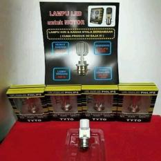 Lampu Led Motor Universal Bebek Dan Matic Tyto M2a Soket H6 Kaki 1