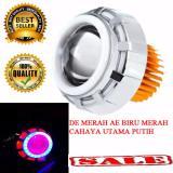 Beli Lampu Led Projector Bulat Double Ae Biru Merah De Merah Lampu Projie Motor Online